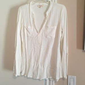 Vince Camuto mixed media top size small